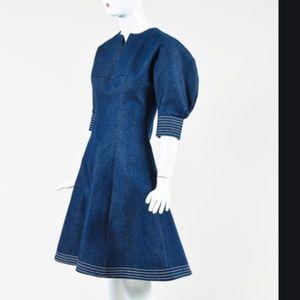 Tish Cox denim dress small puff sleeves